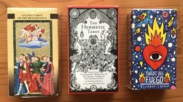 Lot of Tarot Card Decks w/Booklets (3 Different) Brand New & Sealed! - $79.15