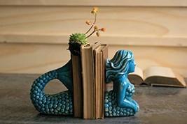 Kalalou Ceramic Mermaid Bookends, One Size, Blue - $69.11