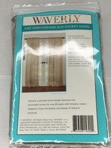 Waverly One Rod Pocket Panel Brown Sheer Curtain 50x84 - $11.30