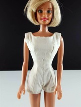 Barbie PAK Scoop Neck Playsuit White Cotton Original 1962 Clothing - $14.84