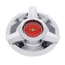 United Pacific Chrome w/Red Center T-Bird Hubcap for 1962-63 Ford T-Bird Wire Wh - $67.09
