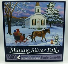 Lighting The Way by John Sloane - Silver Foil Bits & Pieces 1000 pc Puzzle - NEW - $24.95