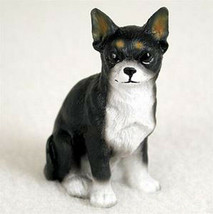 CHIHUAHUA TINY ONES DOG Figurine Statue Pet Lovers Gift Resin White Black - $9.99