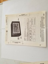 Vintage Photofact Folder Parts Manual - b1 - Motorola Model 62CW1 - $6.92