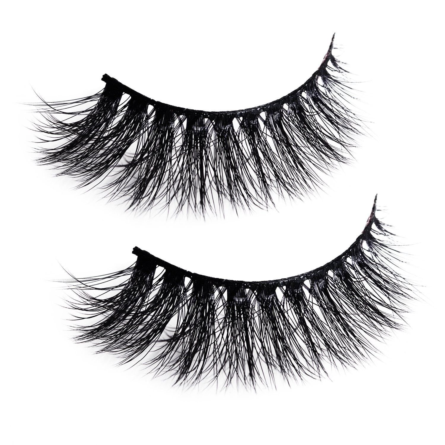 Primary image for Natural Wispy Thick Reusable Authentic Faux Silk False Eyelashes - Fluffy for Ca