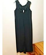 Robbie Bee Black  Sleeveless dress With Rhinestone Broach size 16 - $24.70
