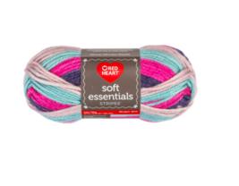 Red Heart Soft Essentials Derby Stripe Knitting & Crochet Yarn - $6.00