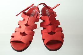Sandals Heels 40 10 B68 Air Sz Relax Strappy Red Memphisto OTItx