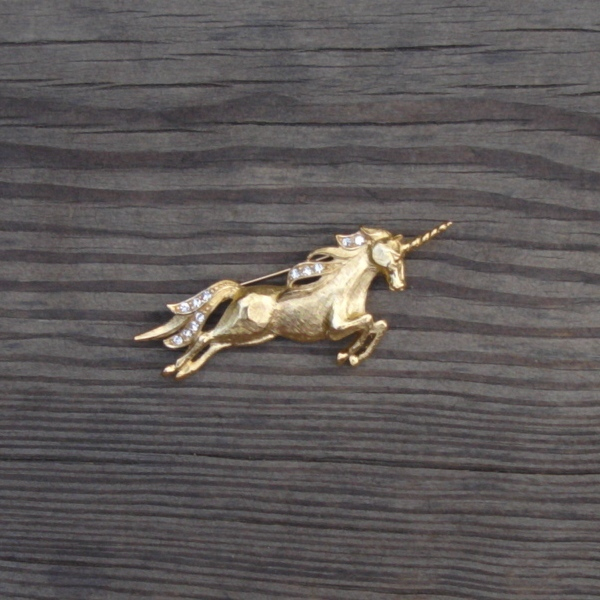 Vintage Trifari TM Unicorn Brooch