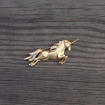 Vintage trifari tm clear crystal gold plated unicorn pin6 thumb200
