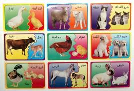 Arabic Teaching Aid School Madrasa Children 36 Animal Mother Child Cub Stickers image 1