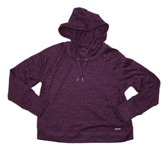 Calvin Klein Women's Marled Hooded Cropped Pullover Top Merlot Combo XXL... - $21.90