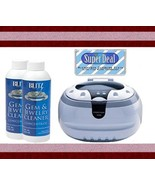 Bogue Systems Professional Grade Ultrasonic Jewelry Cleaner 2800 + 2 Bli... - $42.71