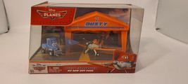 NIB Disney Planes Dusty Crophopper Pit Row Gift Pack Dies Cast Play Set SEALED - $38.72