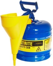 Justrite 7120310 2 Gallon, Galvanized Steel Type I Blue Safety Can With ... - $59.26