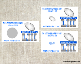 Football Superbowl Super Bowl Scratch Off Tickets Cards Party Favor Game... - £3.10 GBP