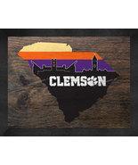 Clemson Tigers 13 x 16 Uscape with Retro Skyline Framed Print  - $39.95