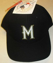 Milwaukee Brewers Vintage (ALL BLACK) 90s Snapback hat New with Tags! Mlb - $34.99