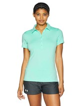 NEW NWT Under Armour Women's Zinger Polo, Crystal 961 Mint Green Large 1272336 - $39.07
