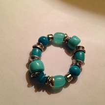 large beaded turquoise colored bracelet - $24.00