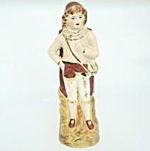 """Renaissance Man Figurine Nobleman Merchant w Cape Hat Purse 11.5"""" Gilded - $24.74"""