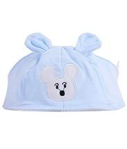 Summer Baby Hats/Caps Infant Bald Head Cotton Hats Light Blue Mice image 2