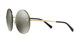 1461c266eaf4 Versace Round Sunglasses VE2176 12524T Silver Mirrored Lens 59mm - $163.93