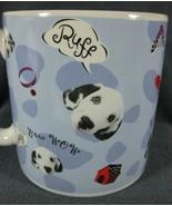 Disney Bow Wow Dalmatians Coffee Mug Dogs Large Ceramic 16oz - $17.95