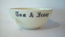 McKee Tom and Jerry CUSTARD Huge Punch Bowl Milk Glass Replacement GLOW ... - $93.15
