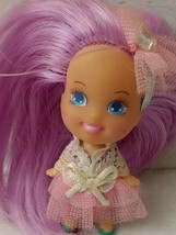 """Vtg Tyco Liddle Kiddles Purple Hair Doll Becky Birthday Party 2"""" 90s Pin... - $21.59"""