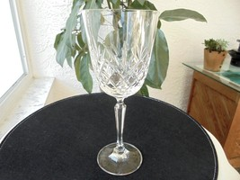 "Cut Crystal High Quality Wine Goblet 8 3/8"" Tall - $18.99"