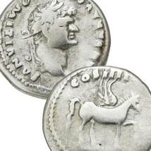 DOMITIAN Caesar PEGASUS Winged Horse Roman Silver Denarius Coin Vespasia... - $296.10