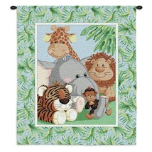 Quality Woven Tapestry Stuffed Safari Unisex Baby Shower Gift Wall Hanging - $25.99