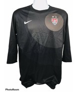 Nike Dri-Fit Mens XL Black USA Soccer Half Sleeve Athleticwear Shirt - $28.05