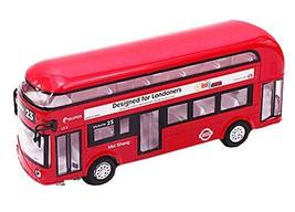 PANDA SUPERSTORE Toys Cars Alloyed Double-Decker Bus Car Model Toy Cars Boys Gif