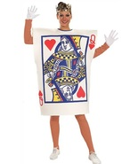 ADULT QUEEN OF HEARTS PLAYING CARD COSTUME - $30.00