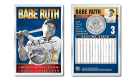 BABE RUTH - Military Legends OFFICIAL JFK Half Dollar US Coin in PREMIUM... - $10.84