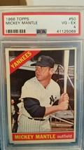 1966 Topps Mickey Mantle #50 Baseball Card...super sharp psa graded - $147.51