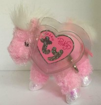 Ty Beanie Pinkys Frilly the Pink Horse Plush Metal Clip Keychain/NWT - $6.33