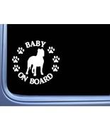 "Baby on Board Argentine Dogo L537 6"" Sticker dog decal - $4.99"