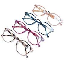 DOOViC Blue Light Blocking Reading Glasses 4 Pack Fashion Patterns Sprin... - $28.38
