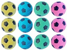 Nice Small Animal Toys Set of 12 Foam Soccer Balls Puppies, Cats, Ferrets - £13.45 GBP