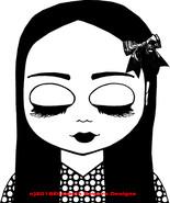 sleepy Big eye doll big eyes girl printable art digital download image g... - $3.99