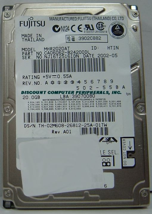 Fujitsu MHR2020AT 20GB 2.5in IDE Drive Free USA Shipping Our Drives Work