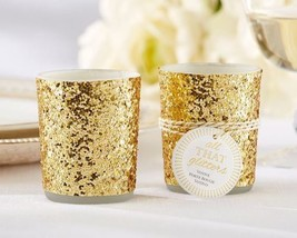 """All That Glitters"" Gold Glitter Votive/Tealight Holder (Set of 4) - $14.80"