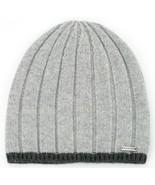 Michael Kors Mens Wool Hat Beanie Grey One Size - $88.53