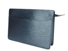 LOUIS VUITTON Pochette Homme Epi Leather Black Clutch Bag LP2683 - $198.00