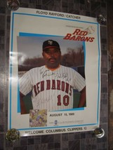 Red Barons Promo Scranton Wilkes Barre PA Floyd Rayford Catcher 1989 Aut... - $16.99
