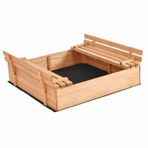 Durable Children's Outdoor Foldable Retractable Sandbox w/Bench Seat - $143.99