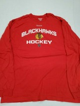Chicago Blackhawks Hockey Red Reebok Long Sleeve Shirt XL Good Condition - $14.84